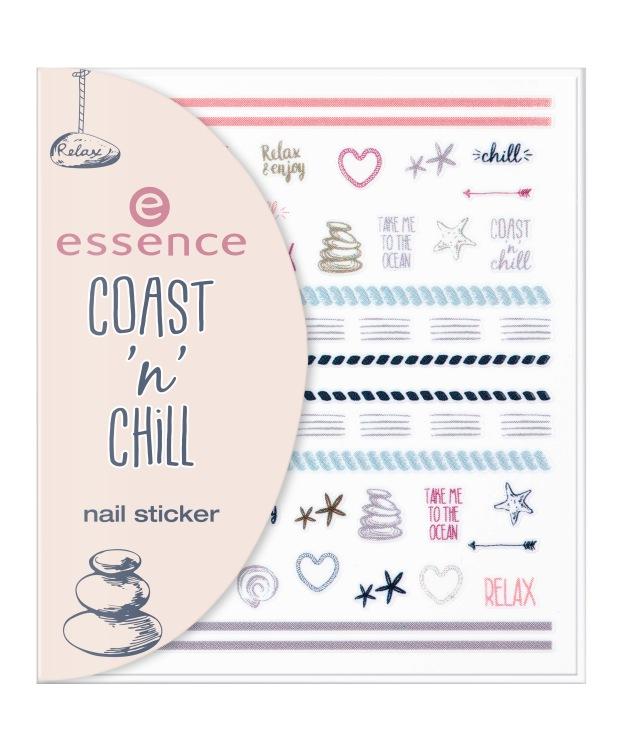 essence coast 'n' chill nail sticker