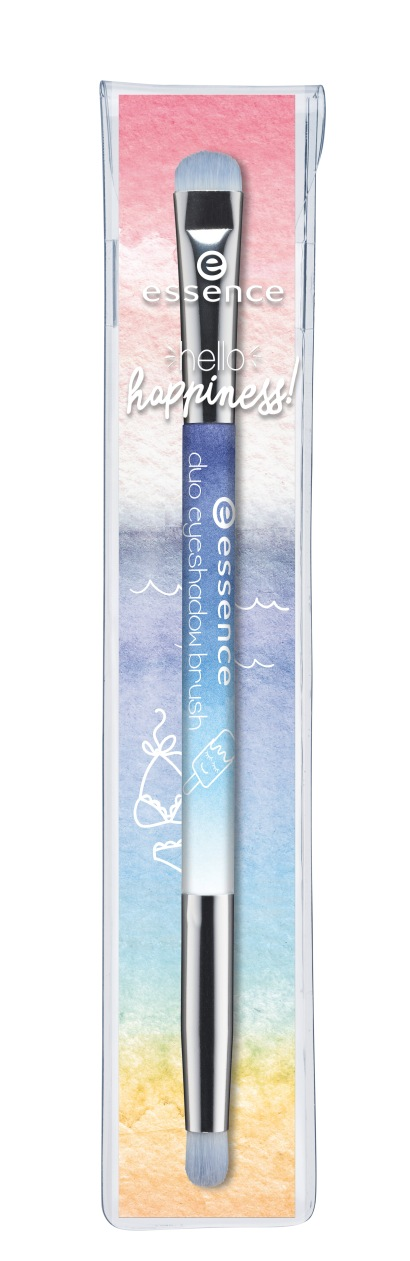 essence hello happiness! duo eyeshadow brush pouch